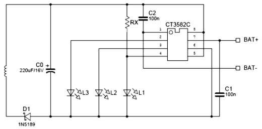 Схема включения CT3582C, которую нашел на каком-то китайском сайте.